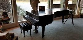 Steinway 1964 concert grand piano, model D.  All original parts.