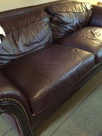 Bernhardt leather sofa