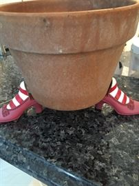 Flower pot with Dorothy's shoes