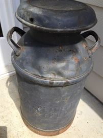 Primitive Dairy Farm Milk Cream Can - Heavy and fabulous