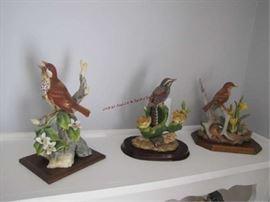 11 BIRD STATUES