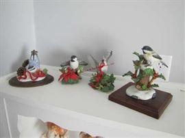14 BIRD STATUES