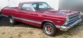 At 8PM: 1967 Ford Ranchero | 289 Engine;  Automatic Transmission; Power Steering, etc.
