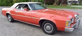 "At 8PM: 1973 Mercury Cougar Convertible | 43,938 Miles; 351 ""Cleveland"" Engine; Automatic Transmission; From Las Vegas, etc.  VIN: 3F92H505070"