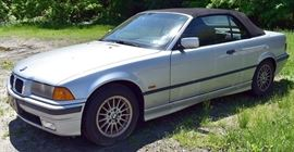 1997 BMW 318i Convertible Coupe | Silver Exterior, Black Soft Top, and Black Interior; 159,295 Miles; Automatic Transmission; Power Windows, Locks, Mirrors; Power Convertible Top; Remote Keyless Entry; Heated Seats; Pioneer Stereo with CD/MP3; AAC & USB Ports, and more!  VIN: WBABH8322VEY12212
