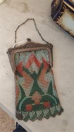 Whiting & Davis antique purse