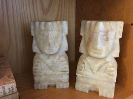 Large alabaster bookends