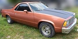 At 8PM: 1981 Chevrolet El Camino with  350 Automatic; Custom Interior, and more.