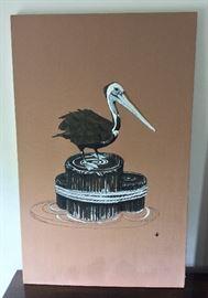 "Pelican Fabric Art. 19"" x 30""."