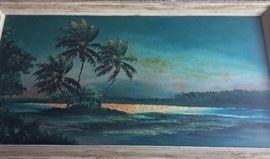 "Florida Highwaymen Artist Livingston Roberts considered one of the original nine Highwaymen Artists. 48"" W x 24""H."