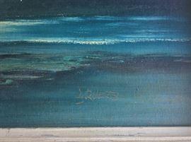 Florida Highwaymen Artist Livingston Roberts considered one of the original nine Highwaymen Artists.