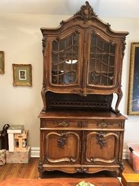 Antique Buffet with Hutch