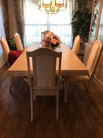 Dining Room table, made in Canada  42 w x 90.5 l with leaf in ( leaf is 24 w )