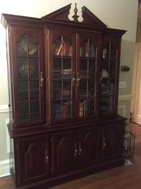 Nice Large China Cabinet by Colonial Fur.Co (2 pc.)