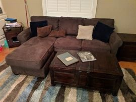 Crate and Barrel sectional sleeper sofa