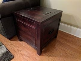 wooden chest sidetable