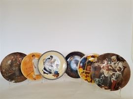 Assorted Norman Rockwell Collector Plates    http://www.ctonlineauctions.com/detail.asp?id=701630