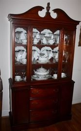 30's China Cabinet and Hutschenreuther Selb Bavaria China