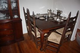 Square Table w/Ladderback Chairs