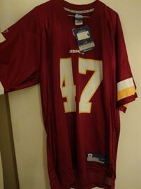 New Redskins jersey.