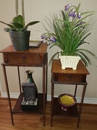 end tables with storage, home decor plants