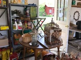 Have you seen a birdcage or chair as quaint as these?
