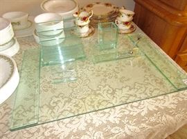 I LOVE THIS. Heavy glass desk set