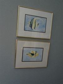 Watercolors, fish