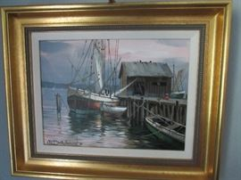 Dockside painting