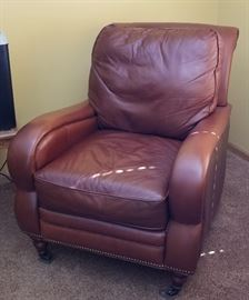 Brass Tack Leather Arm Chair