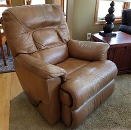 Distressed Leather Recliner