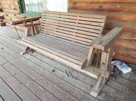 Wood Porch Glider