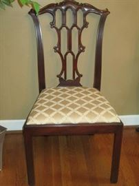 Henkel Harris Chippendale style dining chair-one of 8