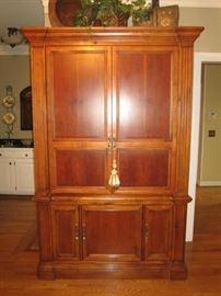 "Large entertainment armoire/ media cabinet. 54""w x 84"" h x 26-1/2"" d"