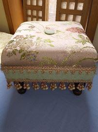 Foot stools hand made sewing & cording