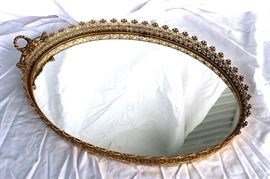 Antique mirrored tray