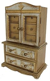 Small French style chest of drawers, doll furniture or salesman sample