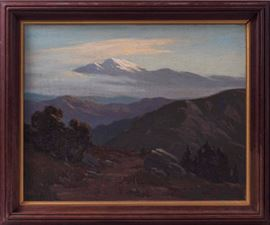 Landscape Painting attributed to Elmer Wachtel
