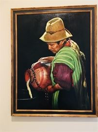 Peruvian oil painting