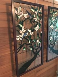 "Gorgeous stained glass panels - 40"" x 20"" each"