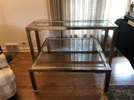 Mastercraft Brass Swan Console & Coffee Tables