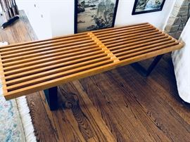 Early Herman Miller George Nelson Slat Bench