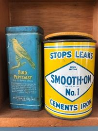 Bird Peptoast tin, Smooth- On No.1 tin.