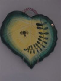 Wall art / pottery dish/ heart