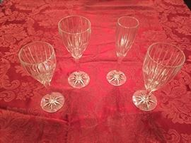 "Mikasa ""Silhouette"" crystal glasses.  Various pieces."