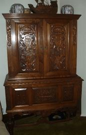Beautiful carved wood cabinet