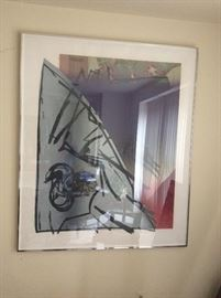 One of several framed abstracts