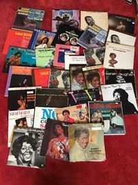 Vintage LP's, Sarah Vaughn, Billy Eckstine, SIGNED CD by Sarah Vaughn. COA provided on all items.