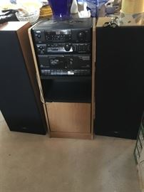 York stereo system w/2 speakers