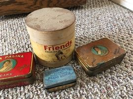 cigar and tobacco tins